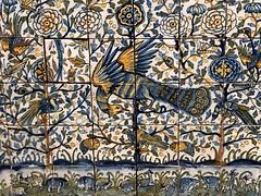 Tiled Altar Frontal with Animal and Plant Motifs, detail, about 1625-1650. Museu Nacional do Azulejo. (foartista) Tags: tiles azulejos lisboa visitlisbon lisbon foartista portugal cities heritage patrimonio history historia museum museu