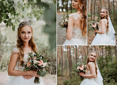 ... (Lena Ivashchenko) Tags: woman flower bouquet bride she nature green wedding forest portrait