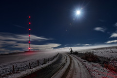 """""""Moonlit Reflections"""" (Gareth Wray - 12 Million Views, Thank You) Tags: northern ireland ni uk landscape sperrins sperrin county tyrone gareth wray photography strabane nikon d810 nikkor sigma 2470mm fog mist snow reflections moonlit broadcasting station sky sun tv mast lens flare tourist tourism site visit countryside country side british irish hills photographer vacation holiday white wintry europe plumb winter 2019 wolf eclipse skyline utv itv bbc reception tower signal moon full super giant large silhouette night surface television road fields broadcast lunar star"""