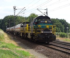 Lineas 7784 leads Gastankers Freight Train at Venlo,the Netherlands , July 18,2018 (Treinemanke) Tags: lineas 7784 leads gas tankers freighttrain venlo the netherlands july 18 2018