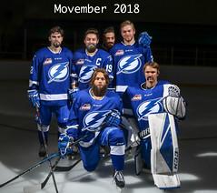 Movember (2018/19 AAA Provincial Interlake Lightning) Tags: movember cancercare hockey interlake interlakelightning