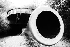 Barrel (JCTopping) Tags: canon 6d cannon delmarva 19mm blackandwhite coastalfortification virginia capecharles unitedstates us