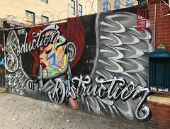 The Seduction of Destruction by Menace Two & Resa Piece (wiredforlego) Tags: graffiti mural streetart urbanart aerosolart publicart bushwick brooklyn newyork nyc menacetwo menaceresa resapiece