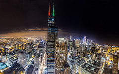 Sears Tower Chicago (Mark Wingfield) Tags: sears tower willis chicago night exposure pano ptgui mavic 2 pro lowlight outdoors outside tall skyscraper skyline