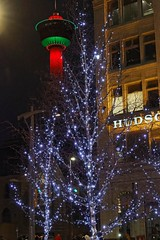 Downtown Christmas (bichane) Tags: downtown calgary city christmas lights tower red green white trees