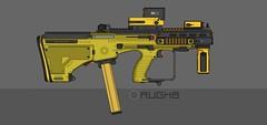 AUG/CQBS Mod. 'Honeybee' (M0KII) Tags: pmg pimp gun m0kii aug cqbs close quarters battle system yellow smg honey bee
