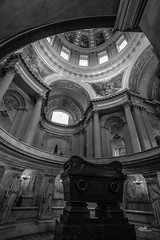 Napoleon's Tomb (aFieW Photography) Tags: approved napoleon tomb les invalides cathedral france paris black white