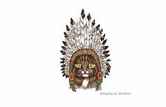 TRIBE CAT, großer Print Patch zum aufbügeln (patchmonkeys) Tags: patch bügelbild style applikation aufbügler streetwear print druck katze design cat transfer wild