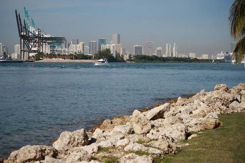 Port Of Miami From South Point Park