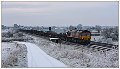 Snow Shed (Mark's Train pictures) Tags: 609j 66092 dbcargo dbschenker