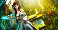 Fleur (meriluu17) Tags: elven elf staff magic magical fantasz surreal forest gayebo deer animal wild crzstal stone lor