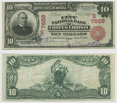 United States $10.00 (ten dollars) national currency (SMU Libraries Digital Collections) Tags: texas money national us united states currency paper banks notes note banknote banknotes chartered bank banking nueces nuecescounty corpus christi corpuschristi