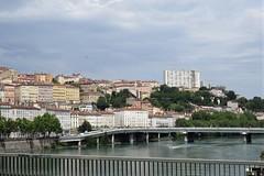 La Croix-Rousse and Rhône River from Pont Morand, Lyon, France (Paul McClure DC) Tags: lyon france july2017 auvergnerhônealpes rhône river historic architecture scenery brotteaux lacroixrousse