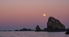 Moon on the Rocks (Nancy King Photography) Tags: oregoncoast pacificcoast seastacks sea oregon brookings harrisbeachsp fullmoon moon ocean moonset pacific rocks
