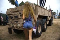 Military Hardware (Scott 97006) Tags: truck vehicle woman female lady shorts cute blonde wheels army