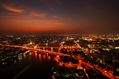 City Scape, Panorama of Chao Praya River. River view overlooking the Phra Phuttha Yodfa Bridge or Memorial Bridge and Wat Arun with grand Palace in the background, Bangkok Thailand. 26 January 2019 (pomp_jaideaw) Tags: bridge phra memorial river bangkok chao design travel building city construction asia road landmark street thailand phuttha phraya sky steel yodfa night modern light water architecture concrete infrastructure view tourism urban cityscape traffic sunset white element detail skyline architectural landscape twilight background transportation land iron monument movement temple gold