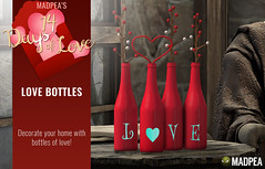 Love Bottles - 14 Days of Love Calendar Day 7 (MadPea Productions) Tags: madpea productions madpeas valentines day calendar valentine cupid decor decoration gift gifts 14days 14 days love