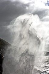 Dance me to the end of love (pauldunn52) Tags: ogmore by sea deeps wave spray glamorgan heritage coast wales
