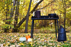 Cooking Table (UtahScouts) Tags: pumpkin dutchoven barebones voiceofscouting thanksgiving fall recipes