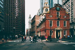 Iconic Old State House, Boston, Massachusetts, America (Patrick Foto ;)) Tags: america american architecture attraction boston brick building buildings business city cityscape crowd destination detail district downtown england famous financial freedom government heritage historic historical history house independence landmark massachusetts modern night office old people scene scenic skyline skyscrapers state street tourism tourist tower trail travel twilight united urban usa view unitedstates us
