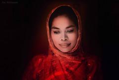 Beholding Magic (JDS Fine Art Photography) Tags: magic beauty beautiful enchantment elegance red redscarf classicalbeauty cinematic inspirational spiritual touched eyes soulful naturalbeauty bestportraitsaoi