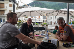 Afternoon coffee (Dominic Sagar) Tags: 2017 adriatic alps andrewmacbeanpeters europe martynhoworth robmitchelhill t050 t100 t150 pianazzola lombardia italy it