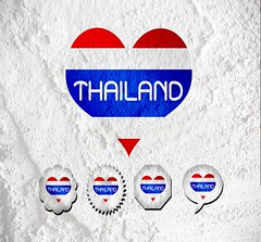 Love Thailand flag sign heart symbol on Cement wall texture back (www.icon0.com) Tags: asia asian background banner blue cloud color colour country emblem ethnic fabric flag international nation national nationalism nationalist nationality patriotic patriotism red ripple siam siamese sky state stream stripe symbol thai thailand wave white cement wall texture