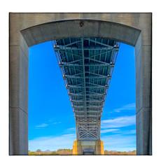 Bourne Bridge (Timothy Valentine) Tags: 2018 framing bridge large sky 1218 clichésaturday buzzardsbay massachusetts unitedstates us