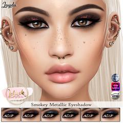 [LeLuck]Smokey Metallic Eyeshadow Jayda (Sunkora) Tags: secondlife genus omega catwa applier new anybody leluck eyeshadow set event genusproject