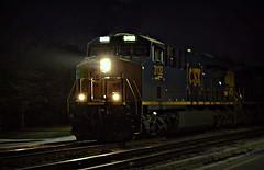 It felt good (builder24car) Tags: railfanning benchingthefreights csx graintrain streetrunning night aline fayettevillenorthcarolina