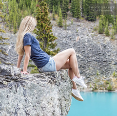 Moraine Lake Legs (Oleh Khavroniuk (Khavronyuk)) Tags: nikon nikkor d750 canada explorecanada alberta travelalberta explorealberta banff mybanff nationalpark national park lakelouise village moraine lake morainelake morning rocks canadian rockies portrait portraiture girl lady woman model candid sensual sexy beautiful beauty retrato legs longlegs shorts blue water nature naturaleza summer hiking travel travelphotography tranquility mountains mountain mountainside glamour stunning outdoors happiness beleza dof depthoffield flickr geotagged gorgeous new digital colors colours colorful lovely people wild pose posing postcard rural natural
