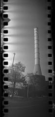 Chimney (rotabaga) Tags: sverige sweden svartvitt sprocket sprocketography göteborg gothenburg blackandwhite bw bwfp lomo lomography tmax3200 diy