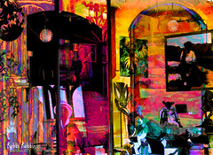 Gallery Window (brillianthues) Tags: shop gallery street colorful collage photography photmanuplation photoshop
