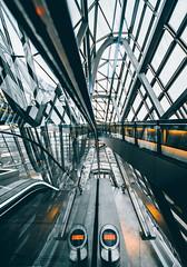 (maxvnck) Tags: architecture lyon photography mood lights orange grey street city modern