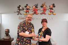 """Tracey and Scott with an Oscar won by the Walt Disney Company • <a style=""""font-size:0.8em;"""" href=""""http://www.flickr.com/photos/28558260@N04/45107055894/"""" target=""""_blank"""">View on Flickr</a>"""