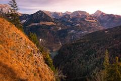 Blick von der Grünsteinhütte (1220m) ins Tal Königssee 3 (Obachi) Tags: grünstein berchtesgarden flickr jenner hohesbrett