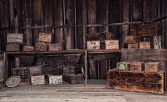 Barn find (Jersey JJ) Tags: barn find vintage old wood wooden produce box boxes winchester mystery house san jose lucis lucisart topaz