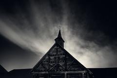 Night Chapel (JeffStewartPhotos) Tags: chapel chapelle night nighttime firstlight saintemarie saintemarieamongthehurons midland ontario canada jsp2018113042 toned blackandwhite blackwhite bw bpc barriephotoclub