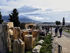 Path around the Athenian Acropolis Athens Greece (martinw019) Tags: athenian acropolis athens greece columns ruins