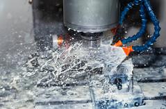 Splish Splash (Nigel Jones QGPP) Tags: engineering machining cutting coolant flow splash machinetools