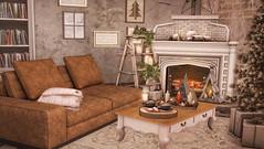 Peaceful.. (desiredarkrose) Tags: secondlife sl slblog slinterior decorationidea decor deco christmas advent livingroom sofa peaceful cosyhome slhome