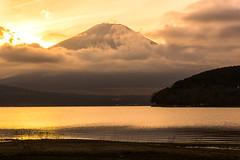 a break in the clouds (gori-jp) Tags: mtfuji fujisan fujiyama fuji mountain lake lakeside yamanakako cloud reflection water