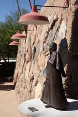turn away (1600 Squirrels) Tags: 1600squirrels photo 5dii lenstagged canon24105f4 sculpture statue lamp architectecture frank lloyd wright taliesin west taliesinwest scottsdale arizona usa