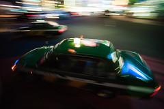 kuru-kuru taxi (N.sino) Tags: m9 superwideheliar15mmf45 shinjuku taxi くるくる タクシー 新宿 交差点 左折 流し撮り 超広角 歌舞伎町 ネオン