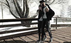 I couldn't be any more in love.. (MATTY // *OMG*) Tags: sl secondlife avatar avi art photo photography snow winter couple anaposes pose couplespose outfit lotd blog blogger clothes clothing event new mesh gabriel mancave semller vans sneaks joggers chucks volthair hair beard valekoer leggings pants nutmeg kustom9