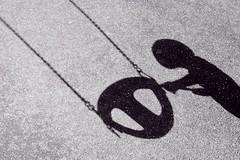 aliens (Wanda Amos@Old Bar) Tags: wandaamos playground shadows patterns swing monochrome blackandwhite alien