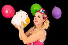 Clownette (Michèle Aime Escudero) Tags: portrait clown clownette lapin deguisement fête studio studioshoot shooting