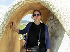 Lise at Casa Milà/La Pedrera (dckellyphoto) Tags: lapedrera casamilà 2015 barcelona spain catalonia antonigaudí gaudi architecture building woman lise portrait