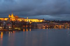 Charles bridge and Prague castle in Prague (George Pachantouris) Tags: christmas prague czech republic central europe eu european union charles bridge vlatva river castle tourism tourist touristic