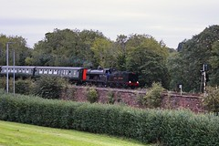 Lambeg, 31/08/2018 (Milepost98) Tags: ni northern ireland irish rpsi railway preservation society steam train locomotive heritage preserved enterprise gnri great gnr q class uranus 131 mkii carriage coach carriages coaches lambeg queensway grassy knoll